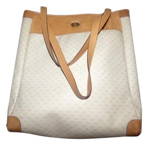 Gucci Extra Large Size Tote in ivory and camel