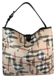 Burberry Leather Nova Check Abstract Shoulder Bag