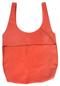 Lanvin Pink Lambskin Happy Tote in Coral
