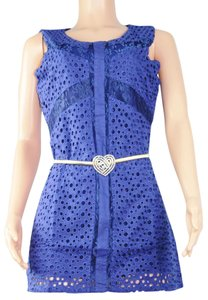 UPHILL FASHION short dress BLUE on Tradesy
