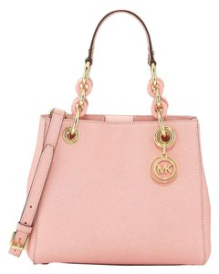 Michael Kors Cynthia Small Satchel in Pale PInk