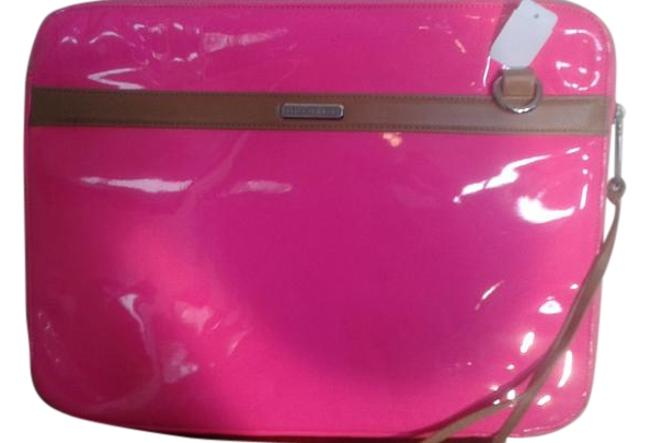 Item - Tablet Zipped Case Bright Pink Patent Leather Laptop Bag