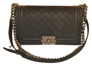 Chanel Boy Quilted Suede Shoulder Bag