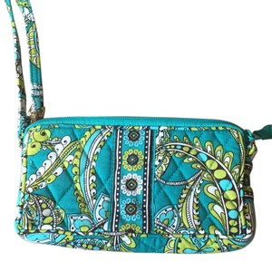 Vera Bradley Wristlet in blue and green