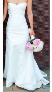 Romona Keveza L732 X Silk Satin Ivory Asymmetrically Ruched Strapless Sweetheart Wedding Dress