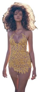 For Love & Lemons Floral Embroidered Halter Dress