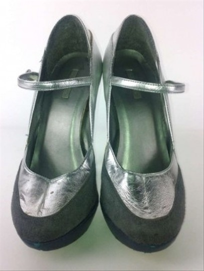Michael Antonio Silver and Grey Pumps