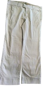 Gap Size 16 Low Rise Flare Leg Flare Pants Off white with Pin stripes