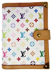 Louis Vuitton LV LOUIS VUITTON AGENDA DAY PLANNER COVER MONOGRAM WHITE PM R20896