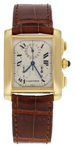 Cartier Cartier Tank Francaise Chronoflex W5000556 Yellow Gold Watch (13389)