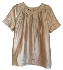 BCBGMAXAZRIA Top Beige/gold