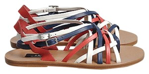 A.P.C. Gladiator Apc Red, White, Blue Sandals