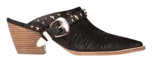Matisse Kate Bosworth Metal Star Leather Embellished black Mules