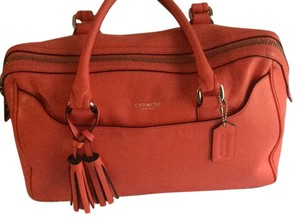 Coach Satchel in Light Red