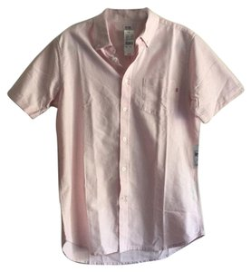 OBEY Button Down Shirt Pink