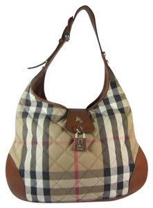 Burberry Leather Nova Check Quilted Shoulder Bag
