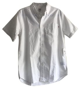 OBEY Button Down Shirt White