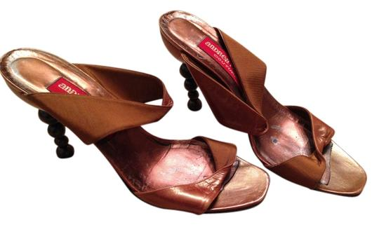 Andrea Pfister Couture Brown Leather Sandals