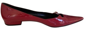 Dior Patent Leather Raspberry Flats