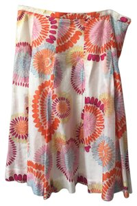 BCBGMAXAZRIA Floral Skirt Orange