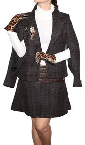 Chanel CHANEL 02A Tweed Wool Ladies Jacket & Skirt Suit Size 40