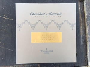 Waterford Crystal Cherished Moments Champagne Toasting Flutes Glasses.