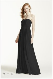 David's Bridal Black F15782 Dress