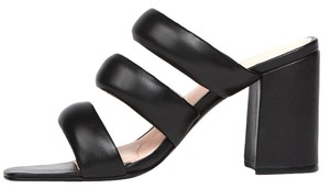 Matisse Kate Bosworth Kelly Pillow Suede Chunky Black Leather Sandals