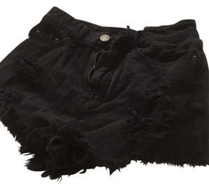 BDG Cut Off Shorts Black