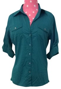 Sandra Ingrish Button Down Shirt Teal