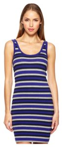 French Connection short dress Deep Purple/Midnight Blue/Heather Grey Combo on Tradesy