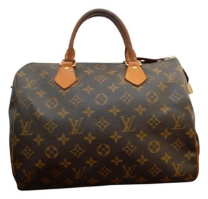 Louis Vuitton Lv Speedy 30 Monogram Satchel in Brown/Tan
