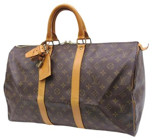 Louis Vuitton Keepall 45 brown Travel Bag