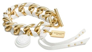 Coach Coach 90522 Leather Laced Cameo Toggle Bracelet