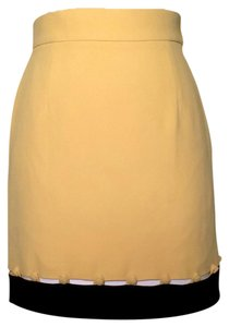 Moschino Mini Skirt Yellow and Black