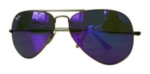 Ray-Ban RAYBAN Sunglasses RB 3025 Aviator BRONZE METAL PURPLE MIRRORED LENSES