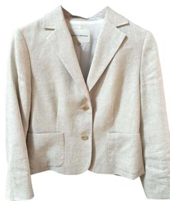 Banana Republic Linen Fitted Grey Metallic Jacket