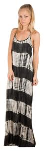 Black and White Tye Dye Maxi Dress by Bohemian Free People