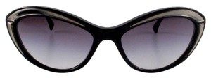 Chanel CAT EYE SUNGLASSES - BLACK & SILVER RUNWAY FRAMES
