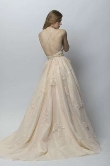 Wtoo Champagne Tulle Oriana Feminine Wedding Dress Size 2 (XS)