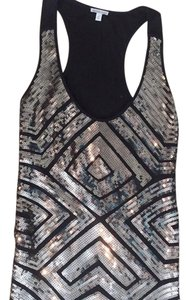 Charlotte Russe Top Black; Sequence; Silver