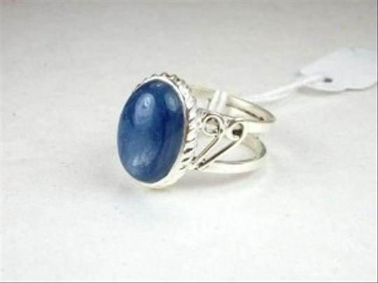 Other 7.08cts Blue Kyanite Oval Sterling Silver Solitaire Artisan Ring S/7