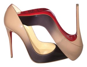 Christian Louboutin Nude and black ombre Pumps