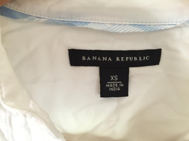 Banana Republic Tuxedo Pleated Button Down Shirt White