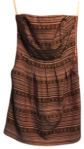 Ya Los Angeles short dress Pink pattern with black and white Summer Boho Strapless on Tradesy