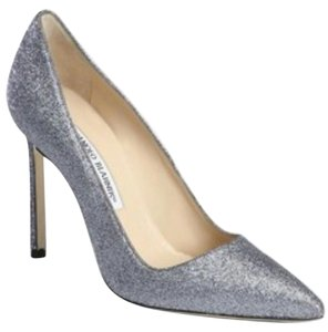 Manolo Blahnik Pewter Pumps