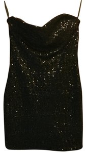 Ark & Co. short dress Black Sequin Fitted Mini on Tradesy