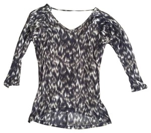 Express Top Blue; Grey; Ikat
