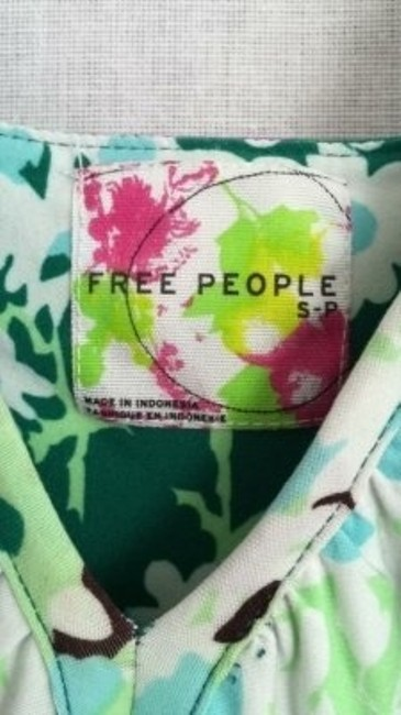 Green and purple floral Maxi Dress by Free People
