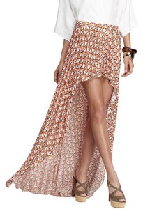 Alexis Pleated Asymmetric Maxi Skirt Multicolor